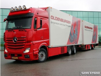 Refrigerator truck Mercedes Benz ACTROS 2748 EURO 6 THERMO KING TAIL LIFT ATP FRC 10-2020