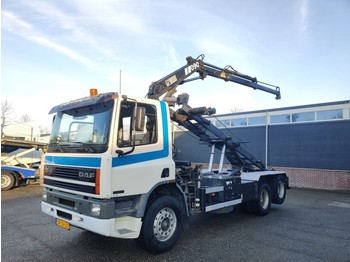 DAF AS 75 270 ATi 6x2 Euro2 - 10 Tyres - Hiab 090 - NCH Cable System - Full Steel suspension 2/2020APK - skip loader truck
