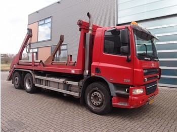 DAF CF75 360 euro5 portaalarm 18 ton 2x container 40 ton airco automaat top staat haakarm portaal arm container vuilbak vuilcontaine - skip loader truck