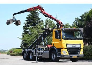 Skip loader truck DAF CF 370 FAN !!Z-KRAAN/KABEL/CONTAINER!!2016/!!60tkm!!!