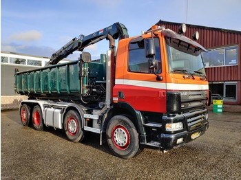 Skip loader truck DAF CF 85.380 8x2/6 DagcabineEuro3 - Tipper - HIAB 111B-2 Duo - Cable system - Manual Gearbox - 8/2020APK: picture 2