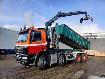 Skip loader truck DAF CF 85.380 8x2/6 DagcabineEuro3 - Tipper - HIAB 111B-2 Duo - Cable system - Manual Gearbox - 8/2020APK: picture 1