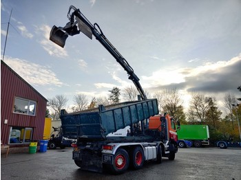 Skip loader truck DAF CF 85.380 8x2/6 DagcabineEuro3 - Tipper - HIAB 111B-2 Duo - Cable system - Manual Gearbox - 8/2020APK: picture 3