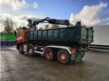 Skip loader truck DAF CF 85.380 8x2/6 DagcabineEuro3 - Tipper - HIAB 111B-2 Duo - Cable system - Manual Gearbox - 8/2020APK: picture 4