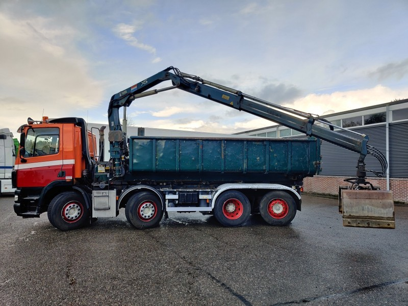 Skip loader truck DAF CF 85.380 8x2/6 DagcabineEuro3 - Tipper - HIAB 111B-2 Duo - Cable system - Manual Gearbox - 8/2020APK: picture 9