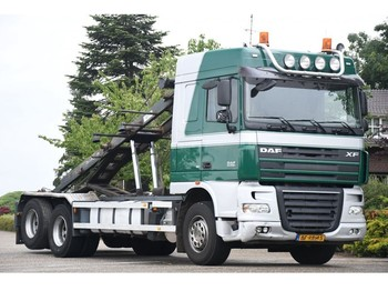 DAF FAS XF105/510 !!MANUAL!!FULL STEEL!!LAMES!!10 WHEELS!! - skip loader truck