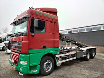 Skip loader truck DAF XF 95.430 6x2 SpaceCab Euro3 - Manual gearbox - NCH 20T cabelsystem - 10 Tires - 11-2020APK