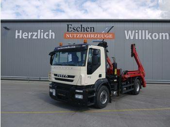 Skip loader truck Iveco ST 310, 4x2, Meiller AK 12, MKG HLK 111 Kran