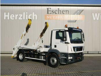 Skip loader truck MAN TGM 18.290 BB, 4x2, Palfinger PST14 Tele