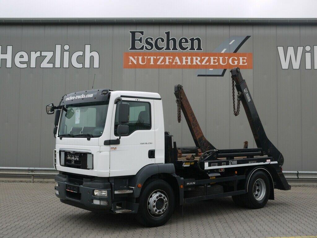 skip loader truck MAN TGM 18.290 BB*HIAB Multilift SLT142 Tele*Klima