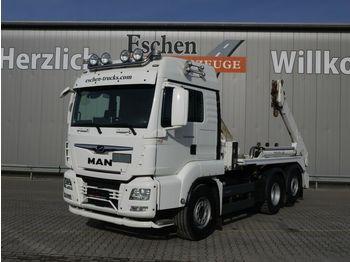 Skip loader truck MAN TGS 26/28.460 6x2-4BL Meiller AK16, Funk, 1.Hand