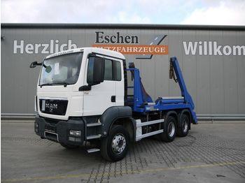Skip loader truck MAN TGS 26.320 6x4BB*erst 145TKM*Hyvalift NG20*Klima