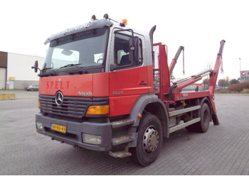 Skip loader truck Mercedes-Benz 1828K