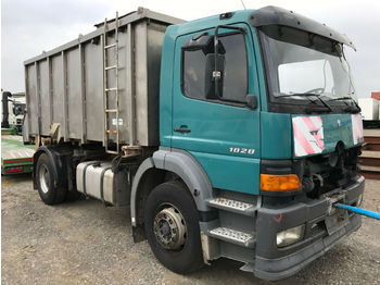 Mercedes-Benz  1828 Loosen 15m³ Tier Kipper V4A Motor defekt  - skip loader truck