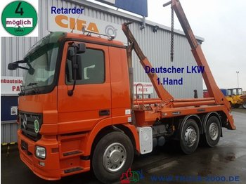 Skip loader truck Mercedes-Benz 2546 Hüffermann Tele Deutscher LKW 1.Hd Retarder