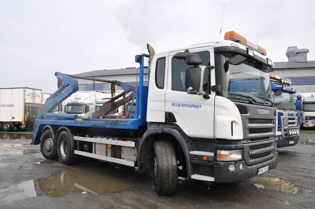 skip loader truck SCANIA P420LB6X2*4HNB