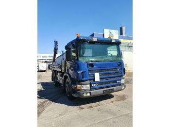 Skip loader truck Scania G 94 260  MEILLER TELESKOP Absetzkipper