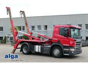 Skip loader truck Scania P 320 DB4x2HNZ, Euro 6, Meiller AK12MT, Klima