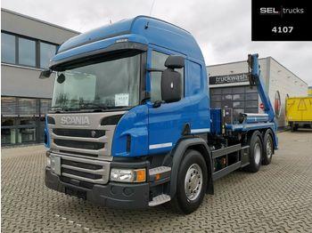 Skip loader truck Scania P 410 DB6X2*4MNA / Lenkachse / Retarder /Meiller