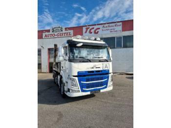 Skip loader truck Volvo FM 460 Absetzkipper 6x2 VorlaufLiftachse, Euro6