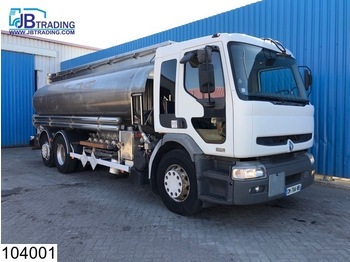 Tank truck Renault Premium 370 6x2, Fuel RVS tank, 18025 liter, 5 Compartments, Airco, ADR, Manual: picture 1