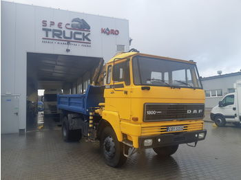 Tipper DAF 1800, FULL STELL ,TIPPER WITH CRANE ,4X4