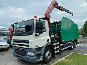 DAF CF 85.360 6X2 MANUAL EURO 5 + HMF 1250 K2 MET RE  - tipper