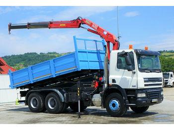 DAF CF 85.360 *Kipper 5,20 + Kran/FUNK*Topzustand!  - φορτηγό ανατρεπόμενο