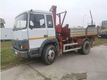 IVECO Turbo 135.17 K Trilaterale + Gru - tipper