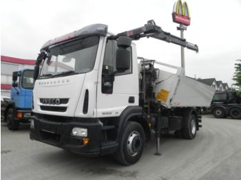 Iveco EuroCargo ML 160E25 2-Achs Kipper Kran 8,8m/to.,  - tipper