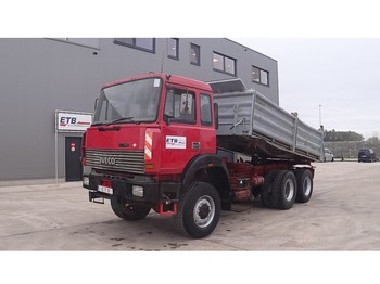 Tipper Iveco Magirus 260 - 34 (GRAND PONT / SUSPENSION LAMES / 6X6)