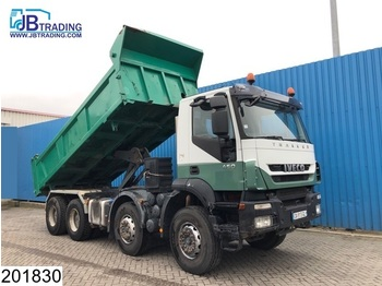 Tipper Iveco Trakker 450 8x4, Retarder, Airco, Steel suspension, Hub reduction, euro 4