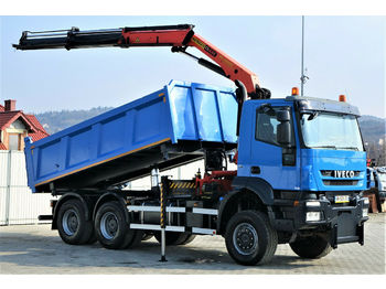 Iveco Trakker 450 Kipper 4,90m/Bordmatic+Kran*6x6  - tipper