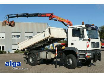 MAN 18.330 TGM/4x4/Allrad/Kran Palfinger PK 8000/AHK  - φορτηγό ανατρεπόμενο