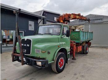 Tipper MAN 19.321 4x2 - tipper - crane