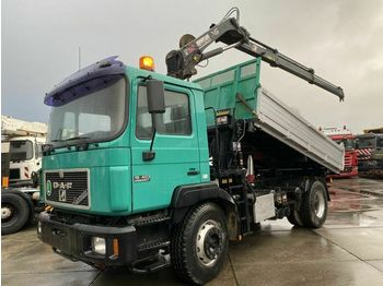 Tipper MAN 19.403 4X2 MANUAL EURO 2 + HIAB 111 DUO - 2008 Y
