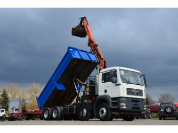 Tipper MAN 32.360 TGA 8x4 -crane+ tipper
