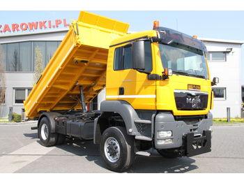 Φορτηγό ανατρεπόμενο MAN 3 SIDED TIPPER TGS 18.400 4x4 MEILLER KIPPER: φωτογραφία 1