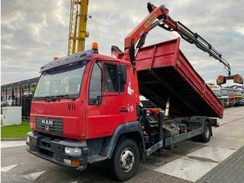 MAN LE 12.180 4X2 MANUAL + PALFINGER PK9501 2005  - tipper