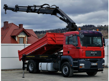 Tipper MAN TGA18.480 Kipper+Bordmatic 4,40 m+Kran*4x4*