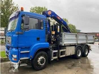 MAN TGA 26.350 6X6 MANUAL FULL STEEL + PM 16 MET REM  - tipper