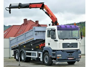MAN TGA 26.350 6x4 Darus billencs - tipper