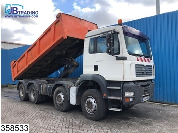 Tipper MAN TGA 32 410 8x4, 13 Tons axles, Steel suspension, Manual, Airco, Hub reduction