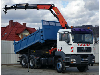 Tipper MAN TGA 33.360 Kipper+Bordmatic 5,00m + Kran*6x4*