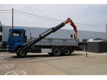 Tipper MAN TGA 33.480 BB + crane/grue 14 t/m removable/démontable