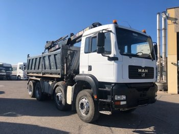 Tipper MAN TGA 35.430 8x4, Hiab 144 Bj 2008