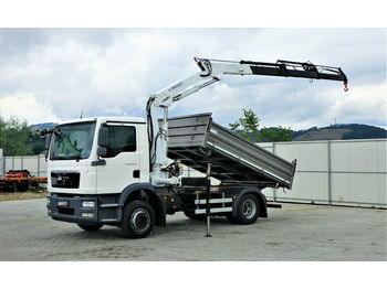 MAN TGM 15.250 Kipper 3,50 m+KRAN !!!  - tipper