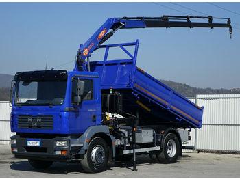 MAN TGM 18.240 Kipper 4,30 m+KRAN/FUNK  - φορτηγό ανατρεπόμενο
