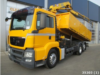 Tipper MAN TGS 26.360 Intarder with HMF 12 ton/meter crane