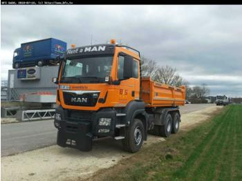 Tipper MAN TGS 26.500 6x4 BB Meiller Bordmatik links, Winte